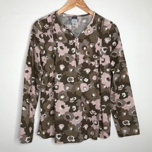 Patagonia Organic Cotton Floral Pleated Blouse